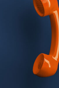 faq orange phone banner mobile