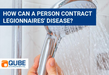 How can a person contract Legionnaires'  disease?