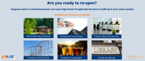 Re-opening your business? Are you legionella compliant?