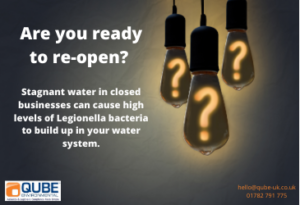 Stagnant water can lead to legionella - call Qube today
