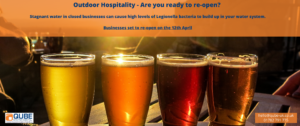 Outdoor hospitality - it's time to check for legionella so you're ready to reopen!