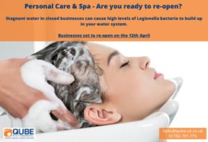 Hair salon, spa - have you checked for legionella?