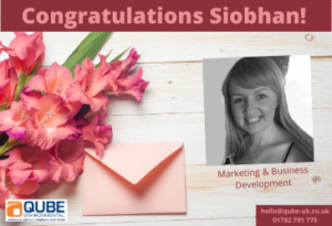 Congratulations Siobhan Leese - 1 year with Qube!