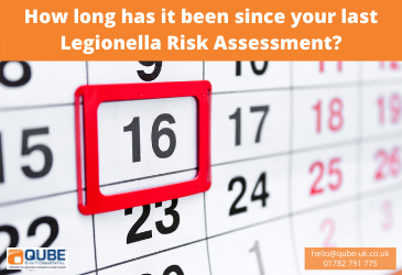 How long since your last Legionella Risk Assessment?
