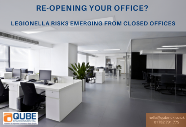 Re-opening offices? Legionella risks emerging from closed offices